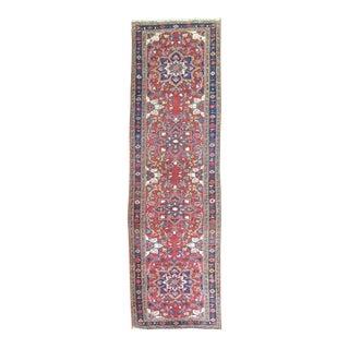 Vintage Persian Heriz Runner - 3' x 10'7''