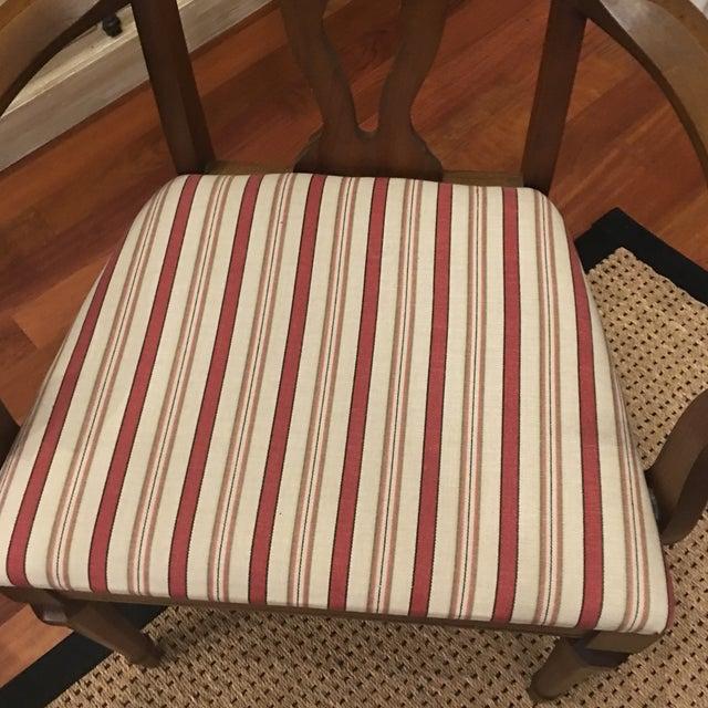 Lenoir Broyhill Vintage Pecan Chairs - Set of 6 - Image 10 of 11