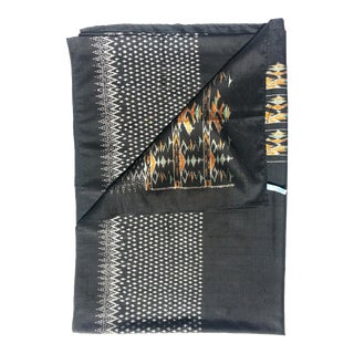 Silk Ikat Textile Throw