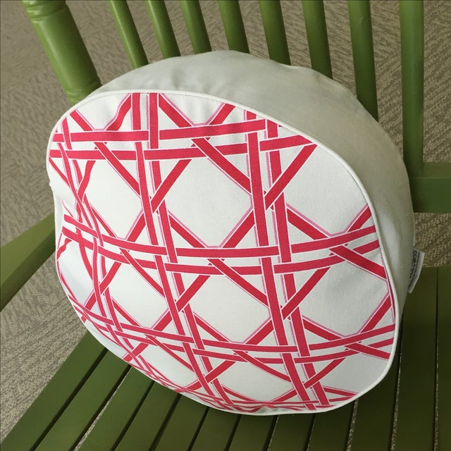 Eco Accents Round Pink Canvas Pillow - Image 3 of 5