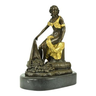 Bronze Classical Statue on Marble Base
