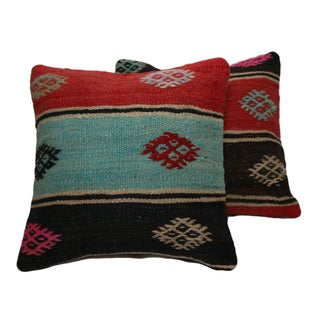 Handmade Kilim Pillow Covers - Pair