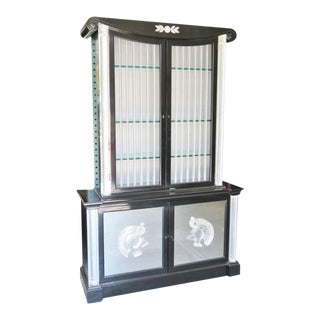Rare Grosfeld House Lucite & Ebonized Display Cabinet