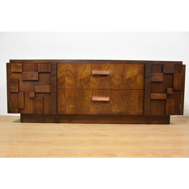 Lane Brutalist Console Credenza - Image 2 of 10