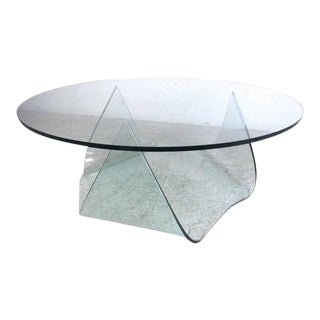 Pace Modern Sculptural Glass Coffee Table