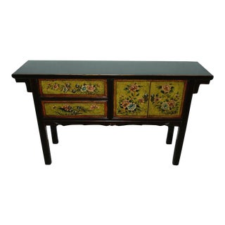Chinese Floral Console Table