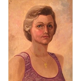 Devote Barbara Oil Portrait Painting on Canvas