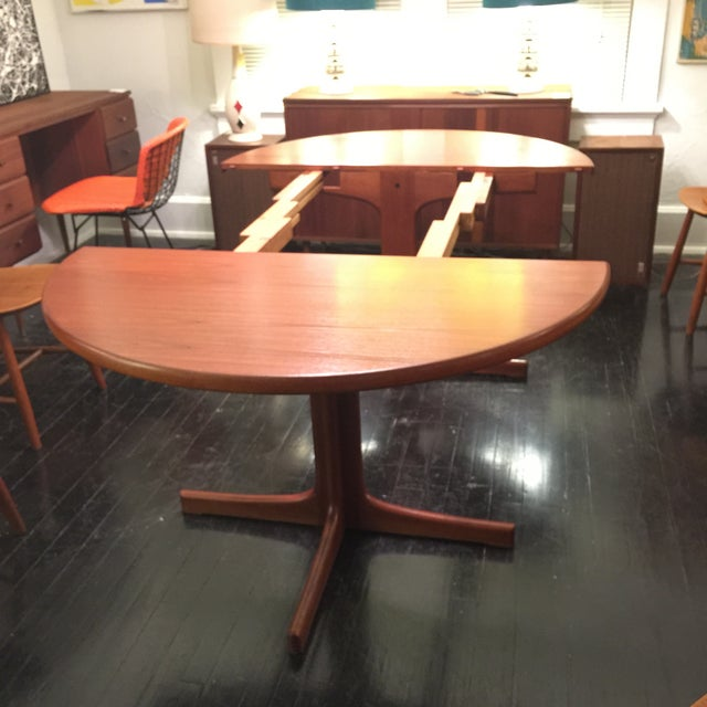 Solid Teak Table With 2 Leaves by J. O. Carlsson - Image 4 of 10