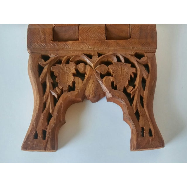 Vintage Carved Wood Book Stand - Image 7 of 7