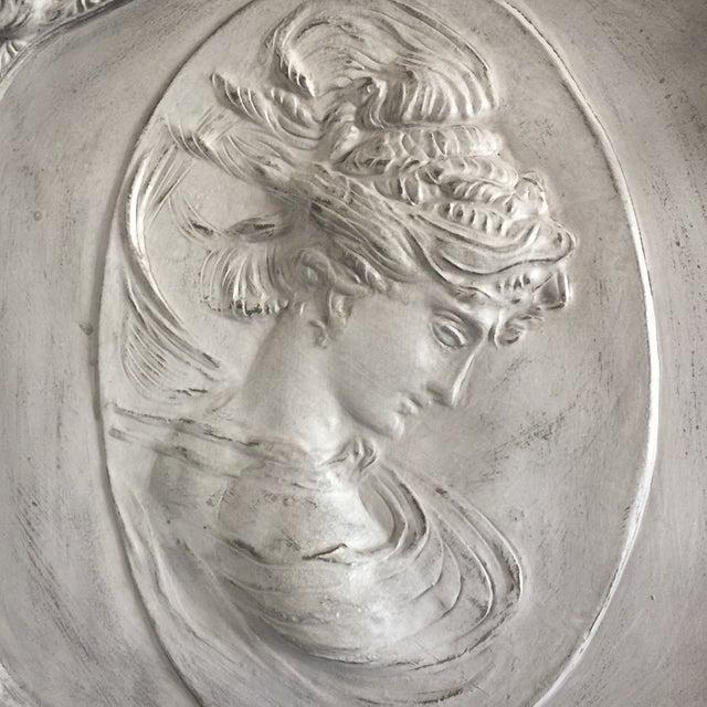 Grey Relief Beveled Floor Mirror - Image 5 of 7
