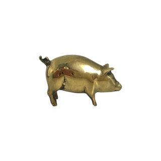 Brass Pig Paper Weight