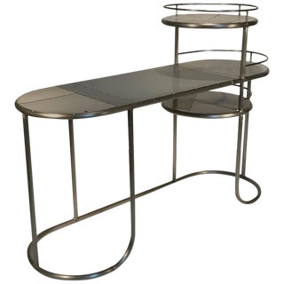 Vintage Industrial Reclaimed Steel Gray Desk
