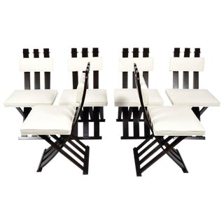 Set of Six Harvey Probber X-Base/Campaign Chairs