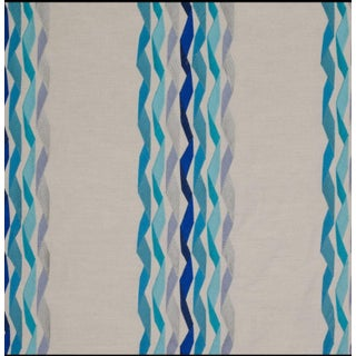 James Hare Blue Carnival Stripe Fabric - 5 Yards