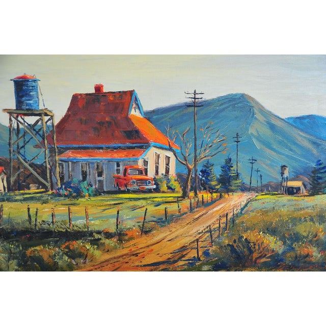 Red Roof Farm House -Oil Painting by Ben Abril - Image 3 of 11