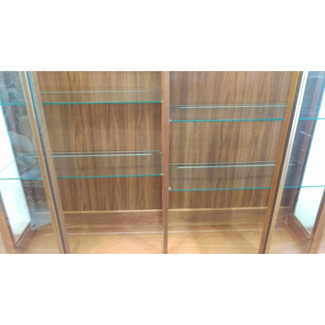 Mid-Century Kagan Style Bowed Front Hutch - Image 8 of 8