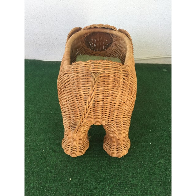 Wicker Elephant Planter - Image 4 of 9