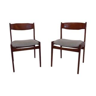 Vintage Danish Teak Dining Chairs - A Pair