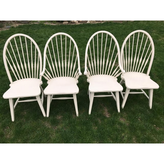 Farmhouse Windsor Chairs - Set of 4 - Image 2 of 9