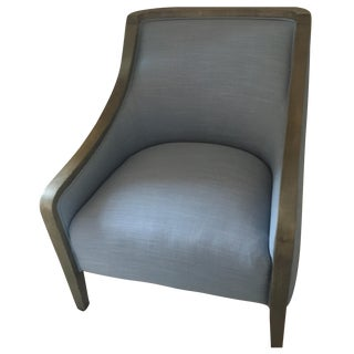 Crate & Barrel Faded Denim Chair