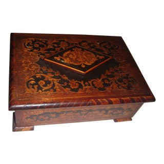 Wooden Inlay Trinket Box