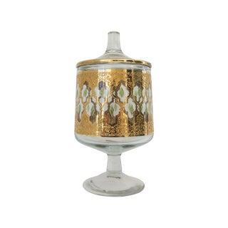 Culver Hollywood Regency 22K Gold Glass Jar