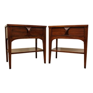 Pair of Mid-Century Danish Modern Kent Coffey Perspecta Walnut Nightstands