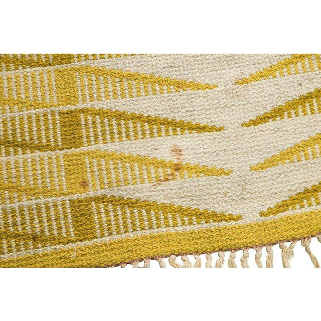 Vintage Swedish Flat-Weave Carpet - Image 9 of 9