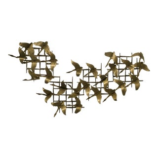 Vintage Metal & Brass Wall Sculpture