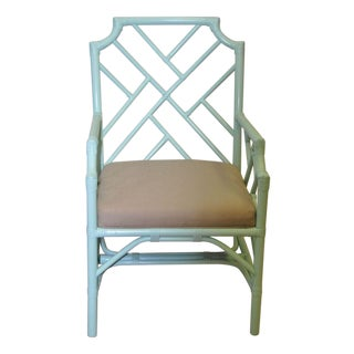 Chippendale Rattan Arm Chair