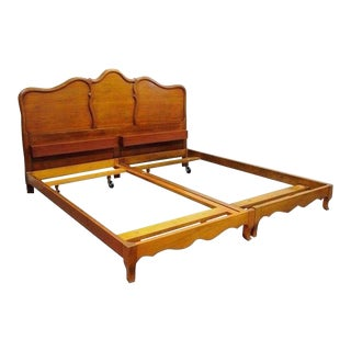 John Widdicomb Country French Provincial Cherry King Size Bed Frame