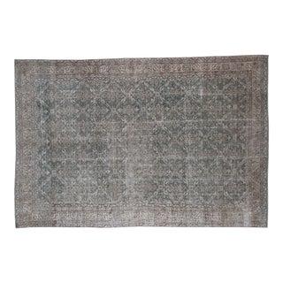 "Distressed Oushak Carpet- 7' X 10'5"""