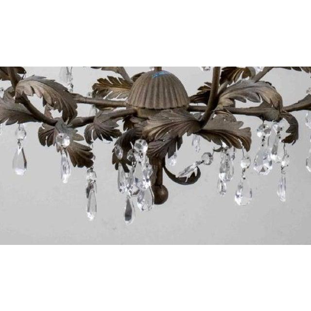 Gilt Metal and Crystal Six-Light Chandelier - Image 2 of 3