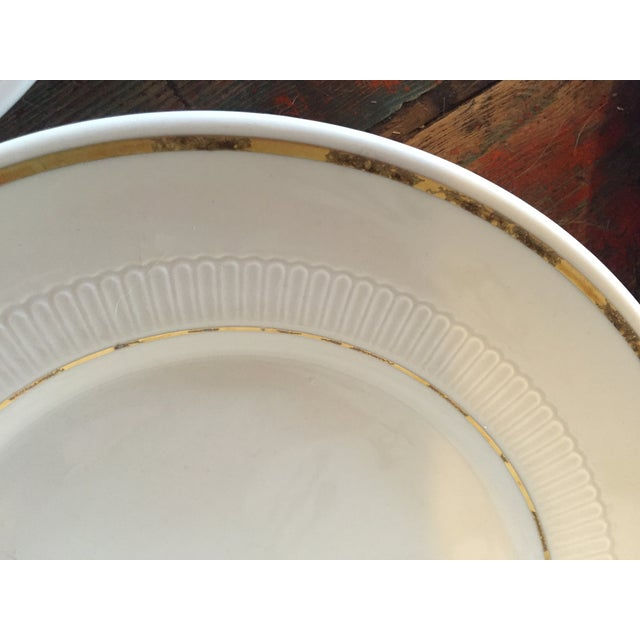 Vintage Restaurant Ware White & Gold Plates - Set of 4 - Image 5 of 9
