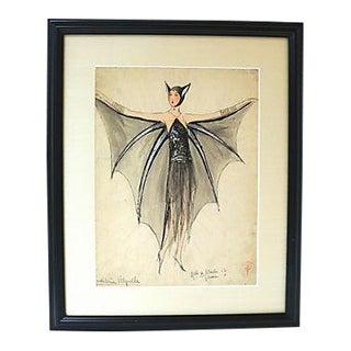 Original Folies Bergère Costume Design Sketch