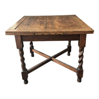 Antique English Barley Twist Expandable Table
