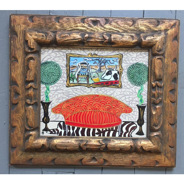 Original Whimsical Interior by Judy Henn LegerCow - Image 2 of 5
