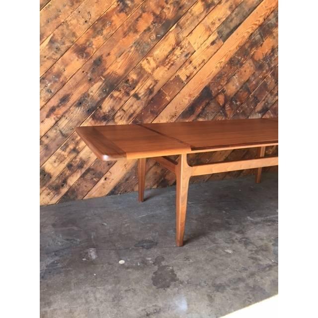 Image of Mid-Century Danish Walnut Rosewood Coffee Table