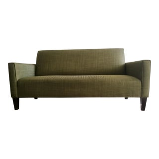 Crate & Barrel Camden Olive Sofa
