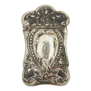 Victorian Silver Plate Match Box