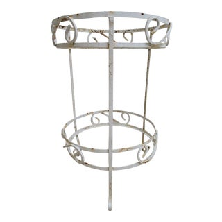 Vintage Shabby Chic Outdoor Two Tier Lamp End Table