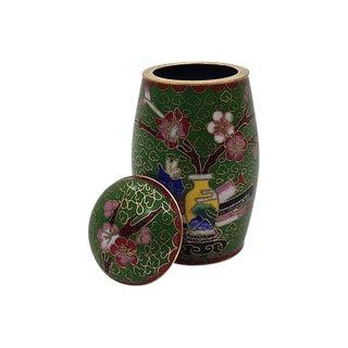 Cloisonné Enamel Matches Jar