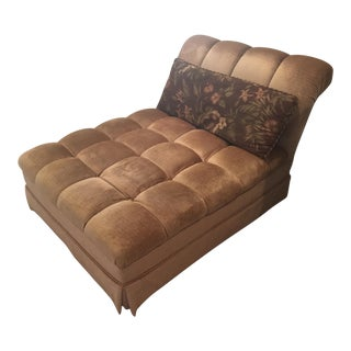 Skirted Tufted Chaise Lounge