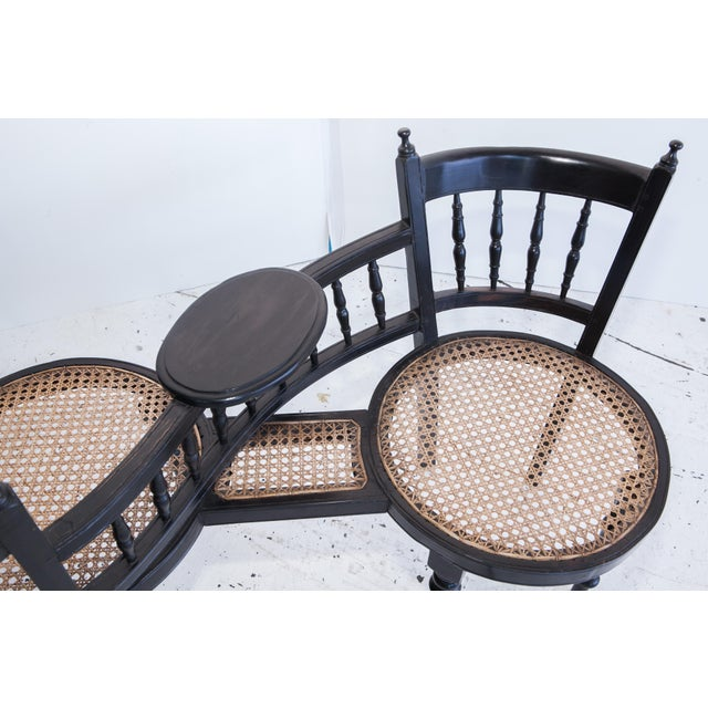 Anglo-Indian Tete a Tete Chair - Image 3 of 3