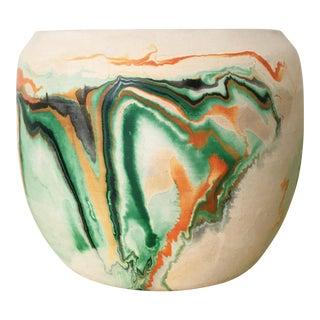 Vintage Nemadji Green Pottery Vase