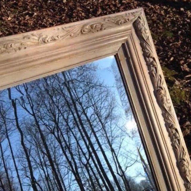 Ornate Wood Framed Beveled Mirror - Image 3 of 7