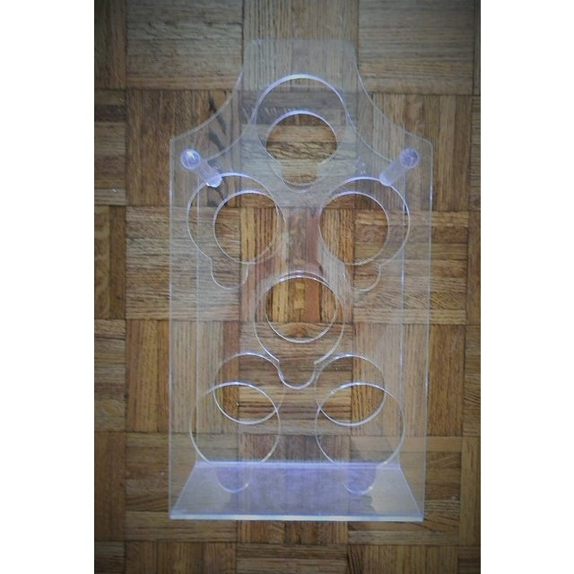 Image of Vintage Lucite Wine Rack From the 1970's