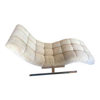 Milo Baughman Mid-Century Wave Chaise Lounge