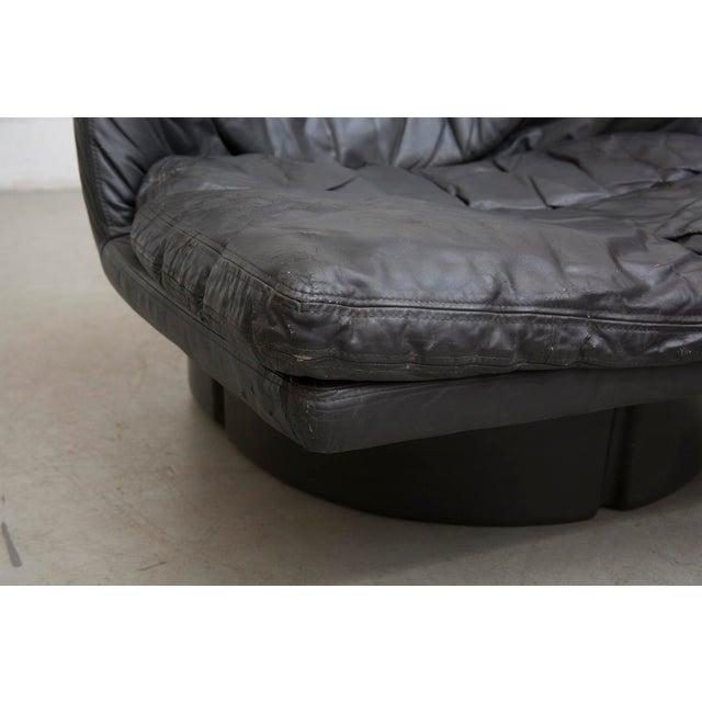 Image of Charcoal Leather Lounge Chair Ammannati & Vitelli
