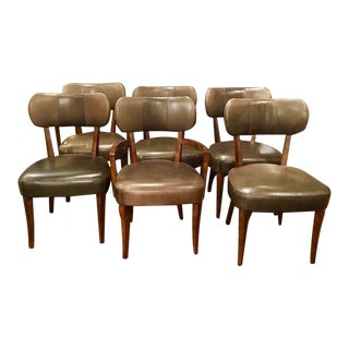 Henredon Leather Dining Chairs - Set of 6